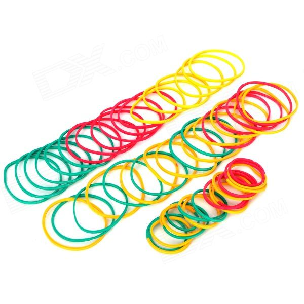 Magic Cream Bands Set - Red + Yellow + Green (45 PCS) 70meter set 6mm spiral wrapping bands white black red yellow blue green grass green each 10meter