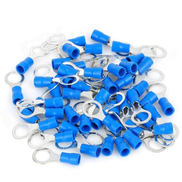 Ring Copper Insulated Terminal Connectors - Blue + Silver (8mm / 50 PCS) 400 pcs wire copper crimp connector insulated cord pin end terminal