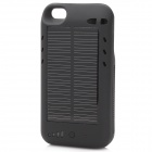 2400mAh Solar Powered External Battery Back Case for iPhone 4 / 4S - Black