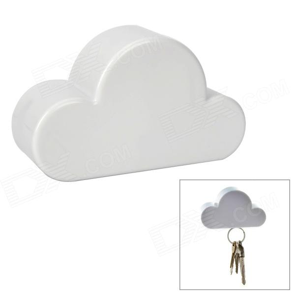 Cloud Style Simple Design Magnetic Key Holder - WhiteLifestyle Gadgets<br>- Model: YSDX-469- Quantity: 1- Color: White- Material: ABS- Simple design- Great for storing keys up to 10- With 3M sticker on the back- Clean your wall, rip the 3M sticker, find the right position and press, then enjoy your new key holder- Packing list:- 1 x Key holder<br>