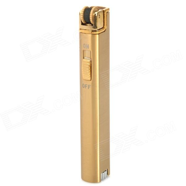 Long Strip Stainless Steel Butane Gas Lighter - Golden