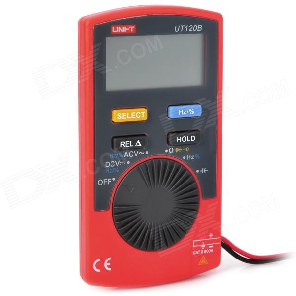 UNI-T UT120B 1.7 LCD Digital Multimeter - Red + Grey (1 x CR2032) pro skit mt 1210 2 0 lcd digital multimeter blue deep grey 1 x 9v battery