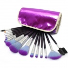A16 Fashion Portable 16-in-1 Cosmetic Makeup Brushes Set - Purple