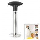Portable Stainless Steel Pineapple Corer-Slicer - Black + Silver