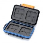 JJC Water Proof Plastic CF / TF / XD Memory Card Case - Black + Orange