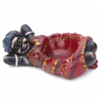 African Girl Style Resin Cigarette Ashtray - Black + Red