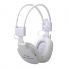 HP-365 Rechargeable Music Player Headset w / FM / TF - White (3,5 mm Klinke)