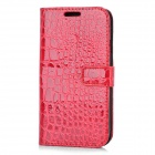 Crocodile Pattern Protective PU Leather Case for Samsung i9300 - Red