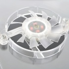 "USB Powered 3-Fan Cooling Pad for 14"" Laptop Notebook - Transparent White"