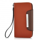 Protective PU Leather Flip-Open Case for Samsung i9300 - Coffee + Brown