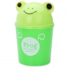 Creative Home Cartoon Frog Shape Plastic Small Desktop Trash - Green