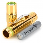 TrustFire Z10 White LED 150lm 5-Mode Memory Flashlight - Golden (1 x 10440 / 1 x AAA)