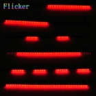 2.4W 432LM Red Flash 48-LED Light Strip Knight Rider Luzes w / Remote controleler (12V)