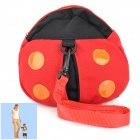 Cute Ladybug Style Cotton Safety Harness Kid Keeper Bag - Red + Black