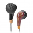 Closed Type Stereo Earphone - Black + Brown (3.5mm-Plug / 110cm-Cable)