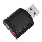 Mini USB Stereo Sound Card Audio Adapter - Black