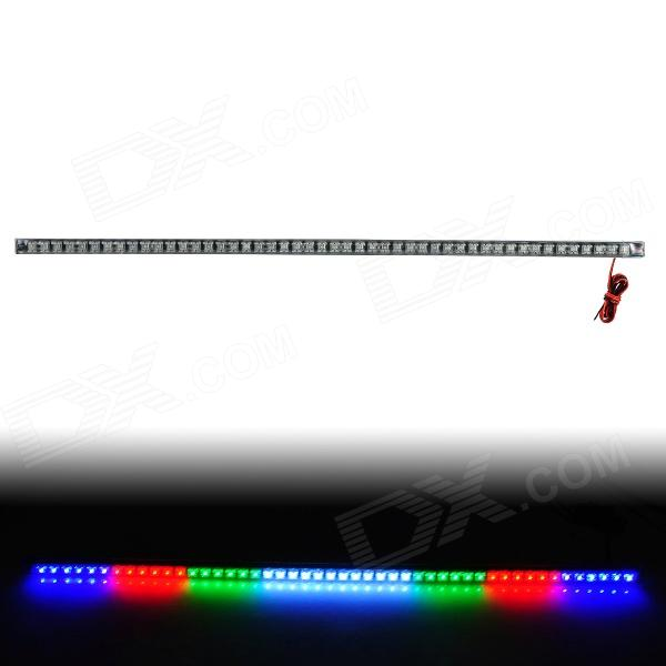 2.4W 432LM 6500K 4-Color Flash 48-LED Strip Light Knight Rider Lights w/ Remote Controller (12V) car decorative 50lm 6500k white light emergency strobe flash light w built in ic dc12v