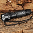 Ultrafire 501B LED 180lm 5-Mode White Flashlight w/ Strap - Black (1 x 18650)