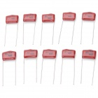 M-CAP 0.01uF 400V Metal Film Capacitors - Dark Red (10 PCS)