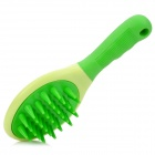 Handheld Massaging Bathing Brush for Dogs - Green + Buff