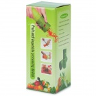Spiral Fruit and Vegetable Processing Peel Cutter Device - Green