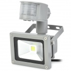 10W 7000K 1000lm PIR Sensor Motion Activated Light - Grey (3--Flat-Pin Plug / 140cm-Cable)