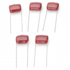 M-CAP 0.22uF 250V Metal Film Capacitors - Dark Red (5 PCS)