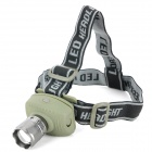 140lm 2-Mode White LED Headlamp - Grey (3 x AAA)