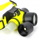 SX CREE XR-E Q5 LED 2-Mode 150lm Warm White Diving Headlamp - Yellow + Black (1 x 18650 / 3 x AAA)