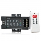 3-Way 8-Key RF Remote Controller for RGB LED Light Strip - Black