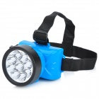 Rechargeable 9-LED 2-Mode 30LM White Light Headlamp - Blue