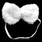 Cute Costume Party Holiday Rabbit Ears Headband + Bow Tie + Tail Set - White + Pink (3 PCS)
