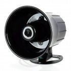 NP-130 20W 108dB Auto Security System Alarm Speaker Siren Horn - Black (DC 12V)