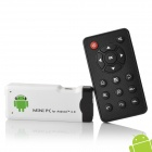 Android 4.0 Mini PC Amlogic M3 Cortex A9 1G RAM 4G ROM w/ HDMI / Wi-Fi - White