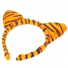 Cute Costume Tiger Ears Headband + Bow Tie + Tail Set - Yellow (3PCS)