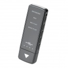 JD-823 Rechargeable High-Definition Recorder + MP3 Player - Black (4GB)