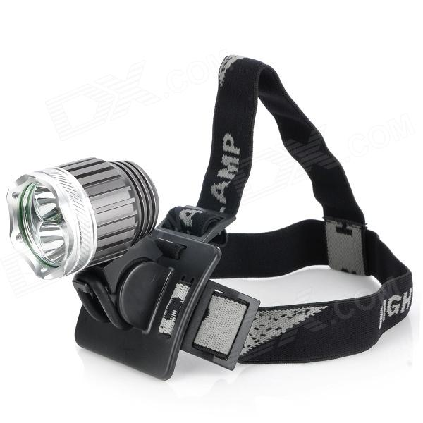 BeamTeeh LED White Headlamp w/ Bicycle Tail Lamp 600lm 3 mode white bicycle headlamp w cree xm l t6 black silver 4 x 18650