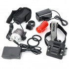 BeamTech LED White Headlamp w/ Bicycle Tail Lamp