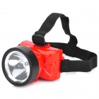 Rechargeable 2-Mode 90LM White Light Headlamp - Red + Black