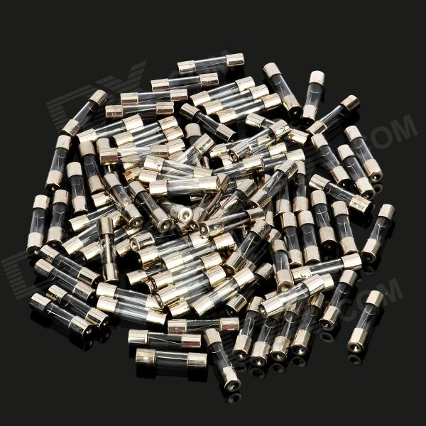 5 x 20mm Glass Tube Fuse Set - Silver (100 PCS)