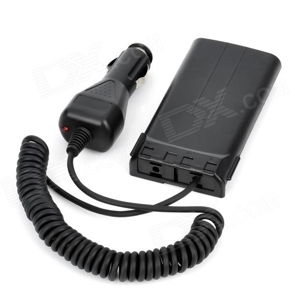 Car Cigarette Powered Power Adapter for Kenwood TK-3107 Walkie Talkie - Black