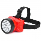 Rechargeable 9-LED 2-Mode 30LM White Light Headlamp - Red