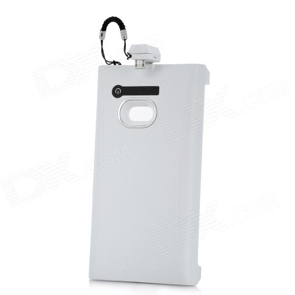 2400mAh Rechargeable External Battery Back Case for Nokia Lumia 900 - White user