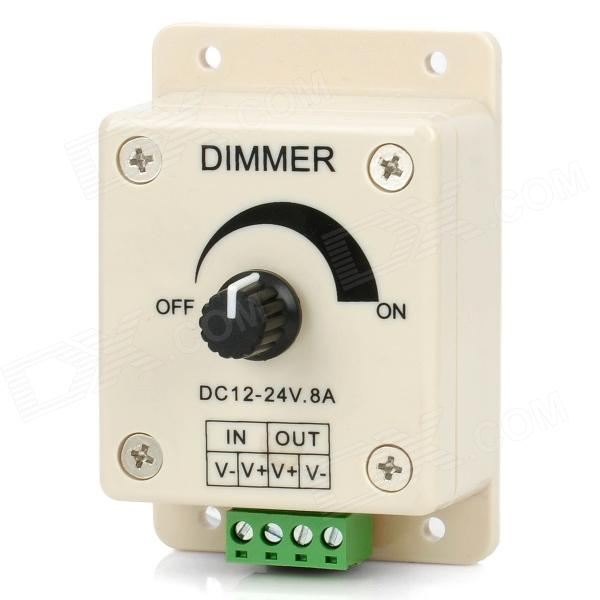 Single Channel Rotary Dimmer Controller for LED Light Strip - Beige + Black archpole