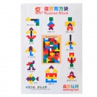 Tetris Game Style Wooden Block Building Toy - Multicolored