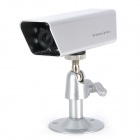 "300KP 1/3"" CMOS Security 1.2GHz Wireless Camera w/ Receiver / 7-LED IR Night Vision - Silver"