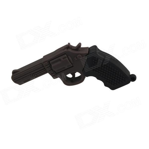 Cool Pistol Style USB 2.0 Flash Drive - Black (4GB)