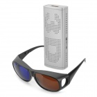 Mini 1080p HDMI 2D to 3D High-Definition Converter w/ 3D Glasses - Silver
