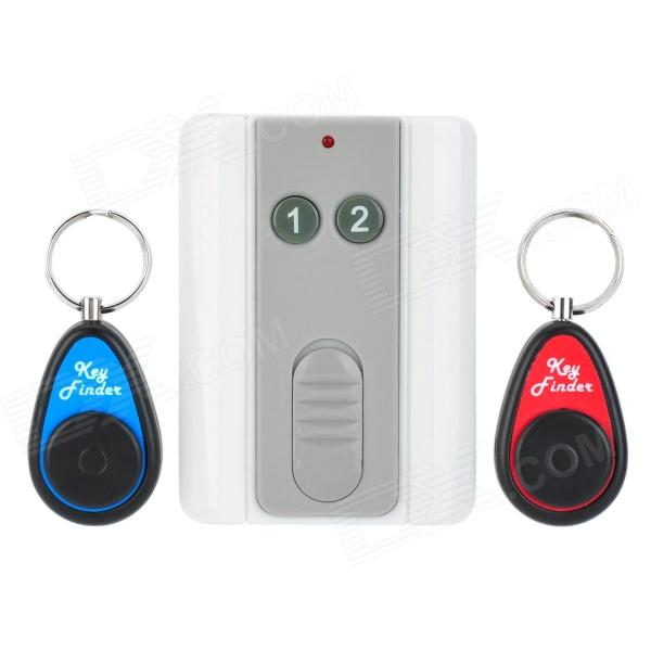 2-in-1 Key Finder Transmitter + Receiver Set - White + Red + Blue sound activated 433 92mhz 1 to 1 wireless key finder blue black 1 x cr2032