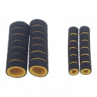 Comfortable Motorcycle Bicycle Thicken Non-Slip Sponge Handlebar Covers - Black + Yellow (2 PCS)